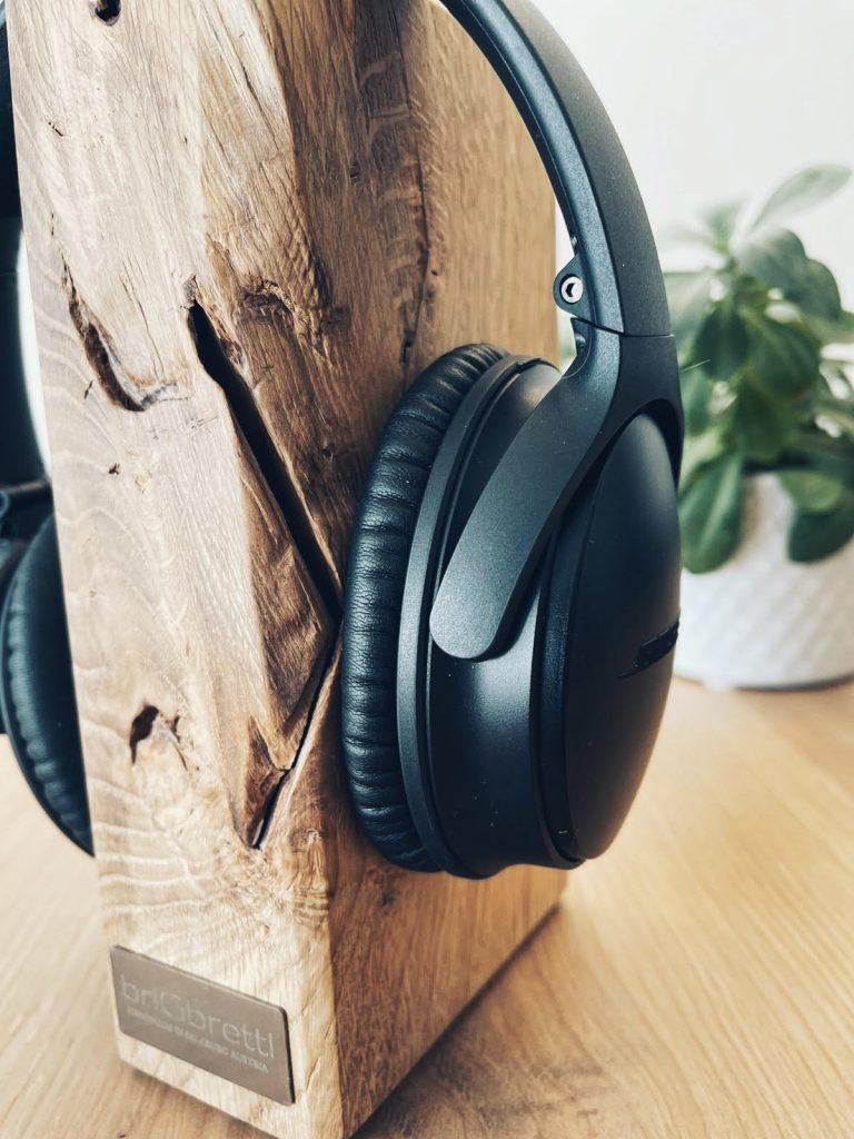Massivholz Kopfhörerhalter Eiche