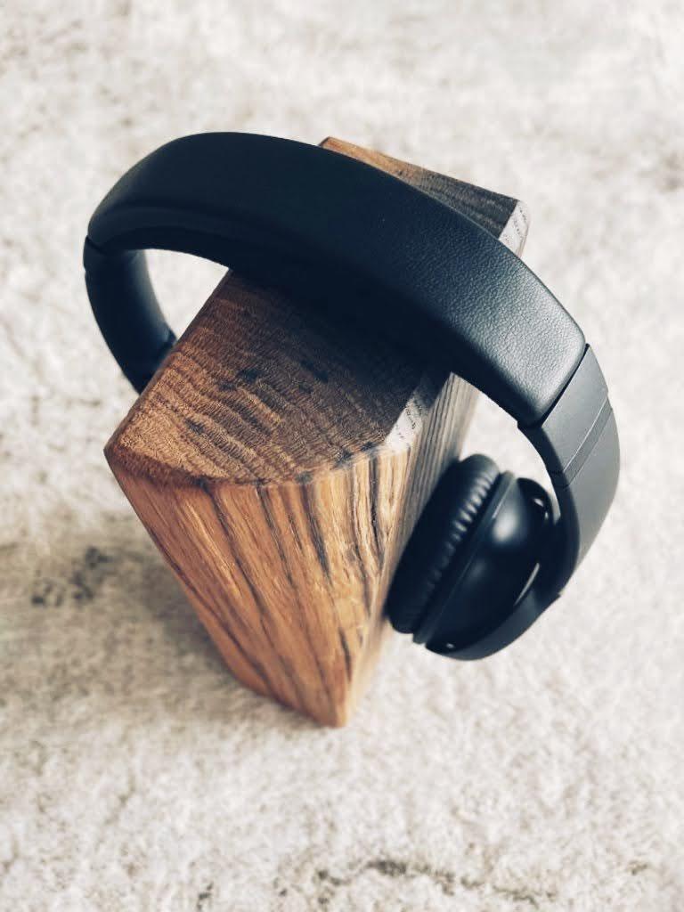 Kopfhörerhalter Holz Massiv Eiche Design Modern